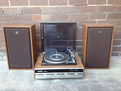VINTAGE 1960s/70s HMV - HIS MASTERS VOICE STEREO-10 TURNTABLE-RECORD PLAYER, AMP