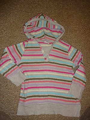 Girls Clothes Age 5-6-7 Years - Next - Grey Striped Colourful Casual Jumper Top