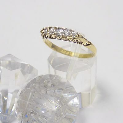 18ct Victorian Antique Hand Cut Natural Diamond Ring Hallmarked UK