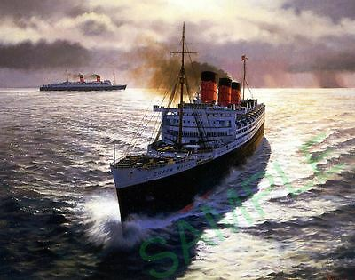 Queen Mary and Queen Elizabeth of the Cunard Line