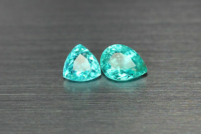 2.025 Ct 100% Natural!! Excellent Luster Cut Rare Blue & Green Apatite 2-Pcs!!