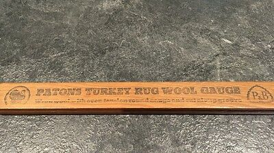 Vintage Turkey Rug Wool Gauge