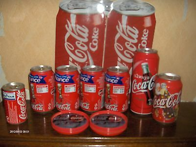 lot de 7 canettes Coca-Cola