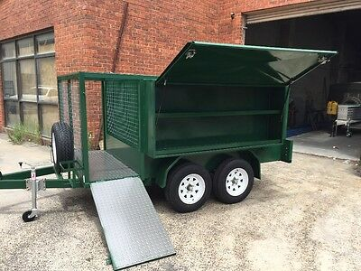 10x5 mower trailer mowing