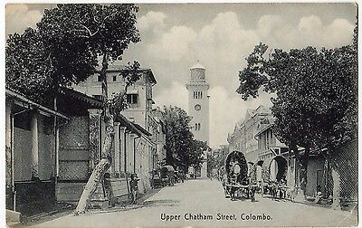COLOMBO, UPPER CHATHAM STREET ~ AN OLD PHOTO POSTCARD (i19)