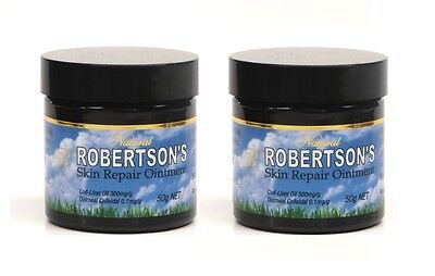 2 x Robertsons Skin Repair Ointment 50ml. Relieve symptoms of eczema!
