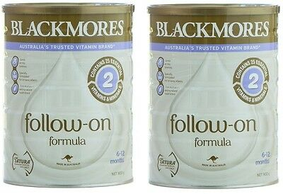 2 x Blackmores FOLLOW-ON BABY FORMULA 900g (from 6 months). CLEARANCE!!