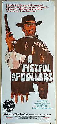 Fistful of Dollars original daybill movie poster Clint Eastwood