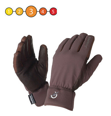 Sealskinz Ladies Thermal Waterproof Coolmax Competition Riding Glove Brown