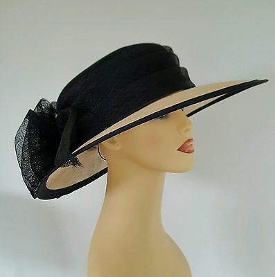 Ladies Occasion Wedding Races Mother Bride Hat Navy by Shaw Millinery