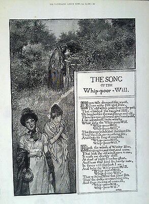 1880 Print The Song Of The Whip Poor Will