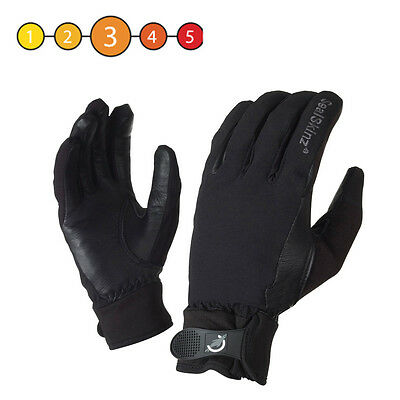 Sealskinz Ladies All Weather Waterproof Cycle Competition Riding Glove Black