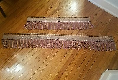 Antique Vintage Art Deco Heavy Silken Embroidered Twisted Fringe Upholstery Trim