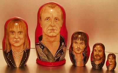 JUDAS PRIEST -  Very Rare Hand Painted Russian Wooden Doll Set