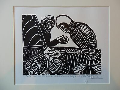 Edward Bawden Signed Limited Edition Lino Cut Print Chronicles Of King Arthur