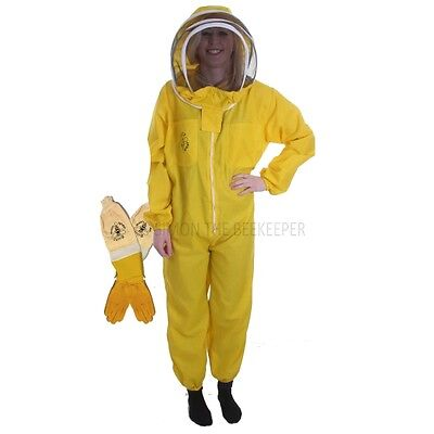 [DEUTSCH] BUZZ BASIC Yellow Suit with Fencing Veil and Ventilated Gloves