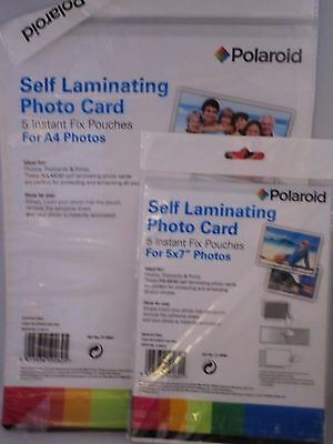 A4 +5x7 Laminating Sheets - Polaroid - Pack of 5