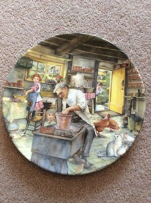 Royal Doulton Display Plate Old Country Crafts Bradford Exchange The Potter