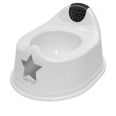 Strata Deluxe White Potty Silver Lining