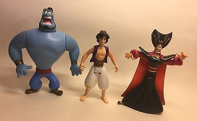 Aladdin Genie Jafar Action Figures Mattel 1992-1993 Walt Disney Toy Lot