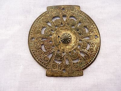Byzantine  Bronze Applique with gold