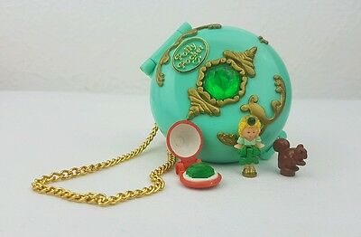 polly pocket Jeweled Forest 100%complete + Chain  1992 excellent condition