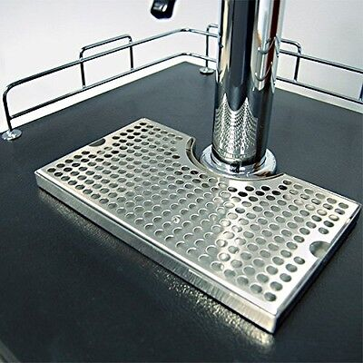 "1x12"" Surface Mount Kegerator Beer Drip Tray Stainless Steel Tower Cut No Drain"