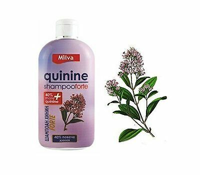 Milva Shampoo QUININE FORTE 40% More Quinine Hair Growth Booster 200 ml