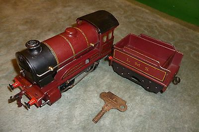 Hornby Meccano Clockwork O Gauge Locomotive 5600 And LMS Tender, Serviced, Key