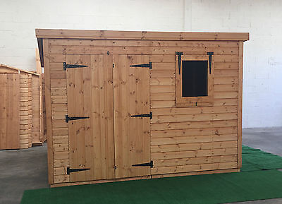 Garden shed 10 x 8 13mm cladding pent roof *FREE INSTALLATION*