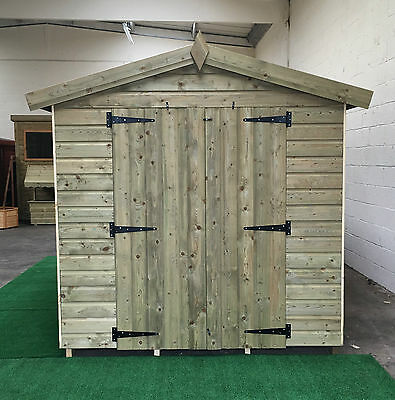 21 x 7 13mm pressure treated Apex shed *FREE INSTALLATION *