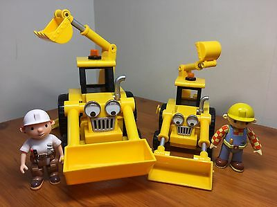 Bob The Builder Bundle Large & Extra Large Friction powered Scoop with 2 figures