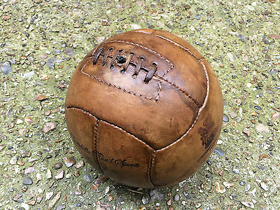 Oh! So! Sporty! Walnut Brown Repro Vintage 1920's Style Leather Football