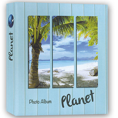 Planet Blue 7.5x5 Slip In Photo Album 300 Photos Overall Size 11x10.75""