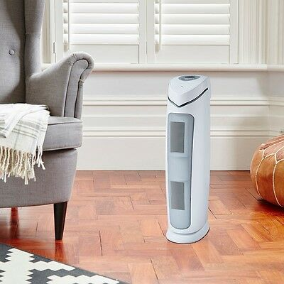 Air Purifier Tower With UV Filtration 74m² Digital HEPA Ioniser Filter