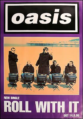 Original litho-printed Oasis promo poster - Roll with it