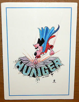 Rare 1997 Underdog - Hungerthon - Promotional Charity Lithograph By Joe Harris