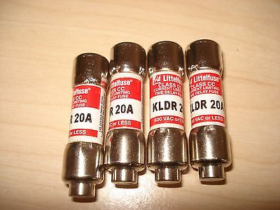 4 Littlefuse CC KLDR 20A + 2 waterproof fuse holders with  wires LOT OF 4 FUSES