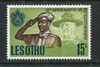 Lesotho: 1967 60th Anniversary of Boy Scout Movement 15c stamp SG144 MNH AD268