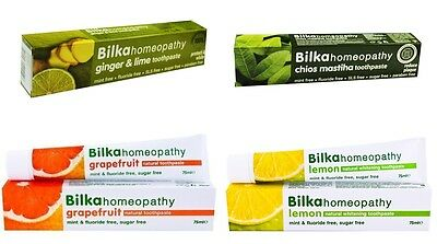 Natural Herbals Toothpastes Bilka Homeopathy Mint Fluoride Free Toothbrush 75 ml