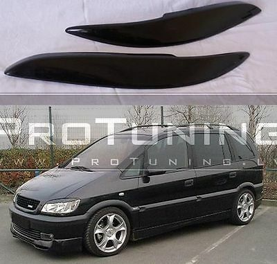 Opel Zafira A 99-05 eyebrows headlight spoiler lightbrows eye lids brows covers