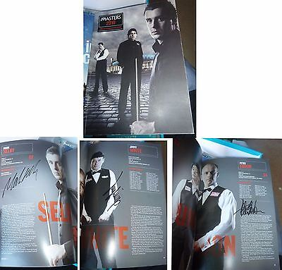 Mark Selby Jimmy White & Peter Ebdon Signed The Masters Snooker Programme 2010