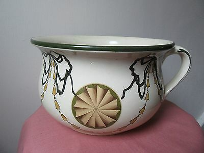 Antique Royal Doulton chamber pot. Lovely decoration.