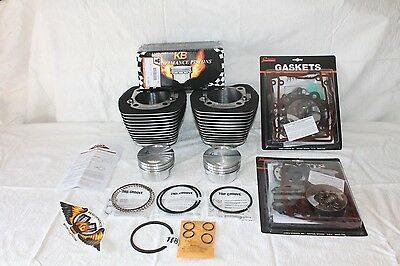 "OEM Harley Davidson Cylinders-Twin Cam 95"" Big Bore Kit Complete W/ Gaskets"