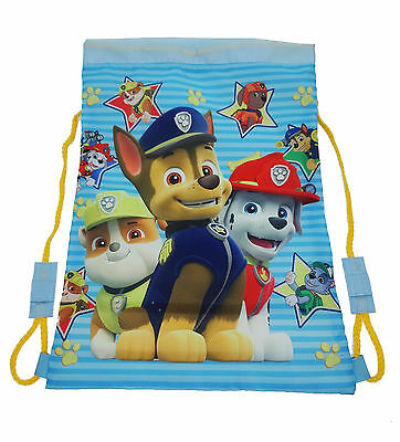 Childrens - Paw Patrol Swim Trainer Gym Drawstring Bag School Nursery