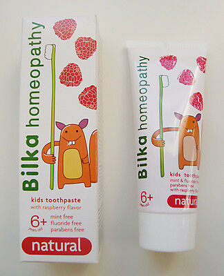 Bilka Homeopathy Natural Toothpaste Kids 6+ Fluoride,Sugar § Menthol Free 50 ml