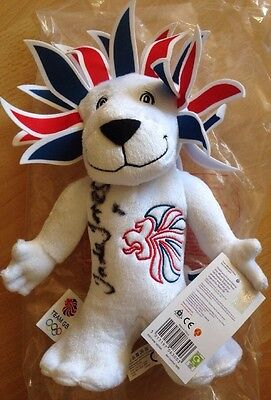 Signed Rio Olympic Team GB Mascot Signed By Double Olympic  Champion Jade Jones