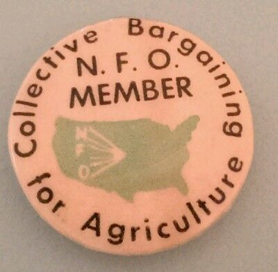 NFO Member Collective Bargaining Union For Agriculture Pin N.F.O.