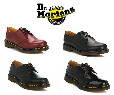 Dr. Martens Unisex Mens Womens Shoes Smooth Patent Leather Smart Casual Lace Up