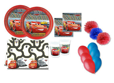 Kit Compleanno N.49 Cars Disney Fluffy Macchine Party Palloncini Bimbo Saetta